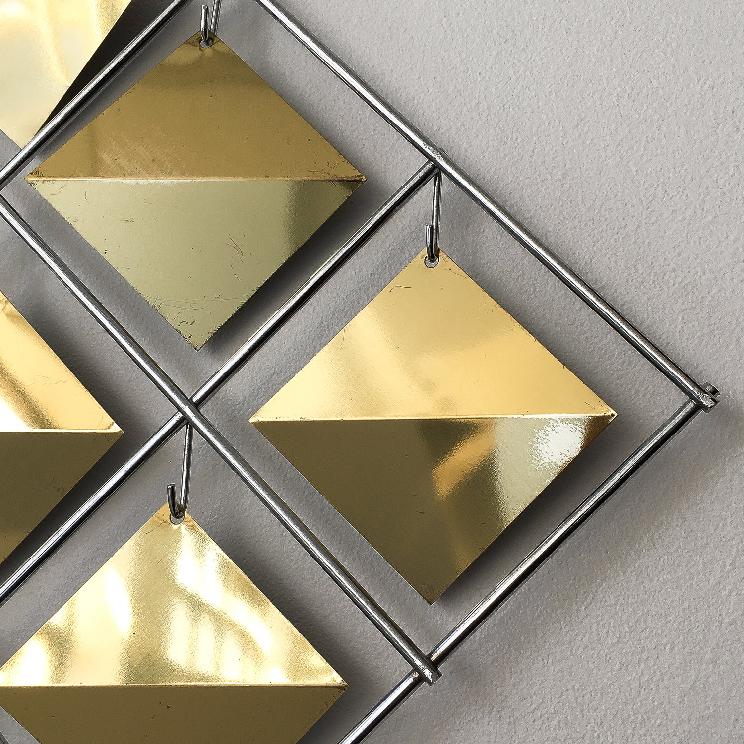 Curtis Jere Brass Diamond Kinetic Wall Sculpture For Sale at 1stdibs