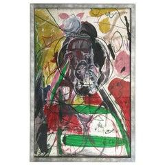 "James C. Harrison ""Homage to Billie Holiday"" Framed Drawing"