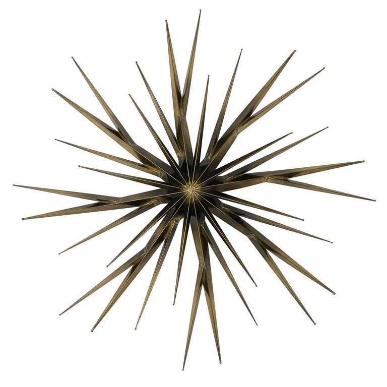 Curtis Jere Patinated Brass Branching Starburst Wall Sculpture