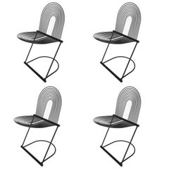 """Set Four Jutta and Herbert Ohl """"Swing"""" Chairs for Rosenthal Studio"""