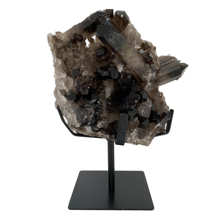 Large Smoky Quartz Crystal Mounted Mineral Specimen at 1stdibsQuartz Crystal Specimen