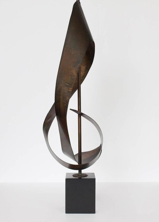 Harry Balmer Brutalist Ribbon Table Lamp For Laurel At 1stdibs