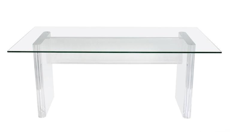 springer style desk dining table perspex furniture clear legs