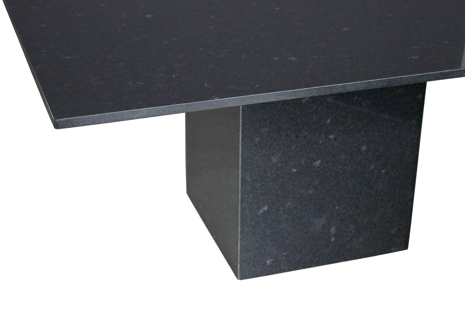 Minimalist Italian Black Granite Pedestal Dining Table At Stdibs - Grey granite dining table