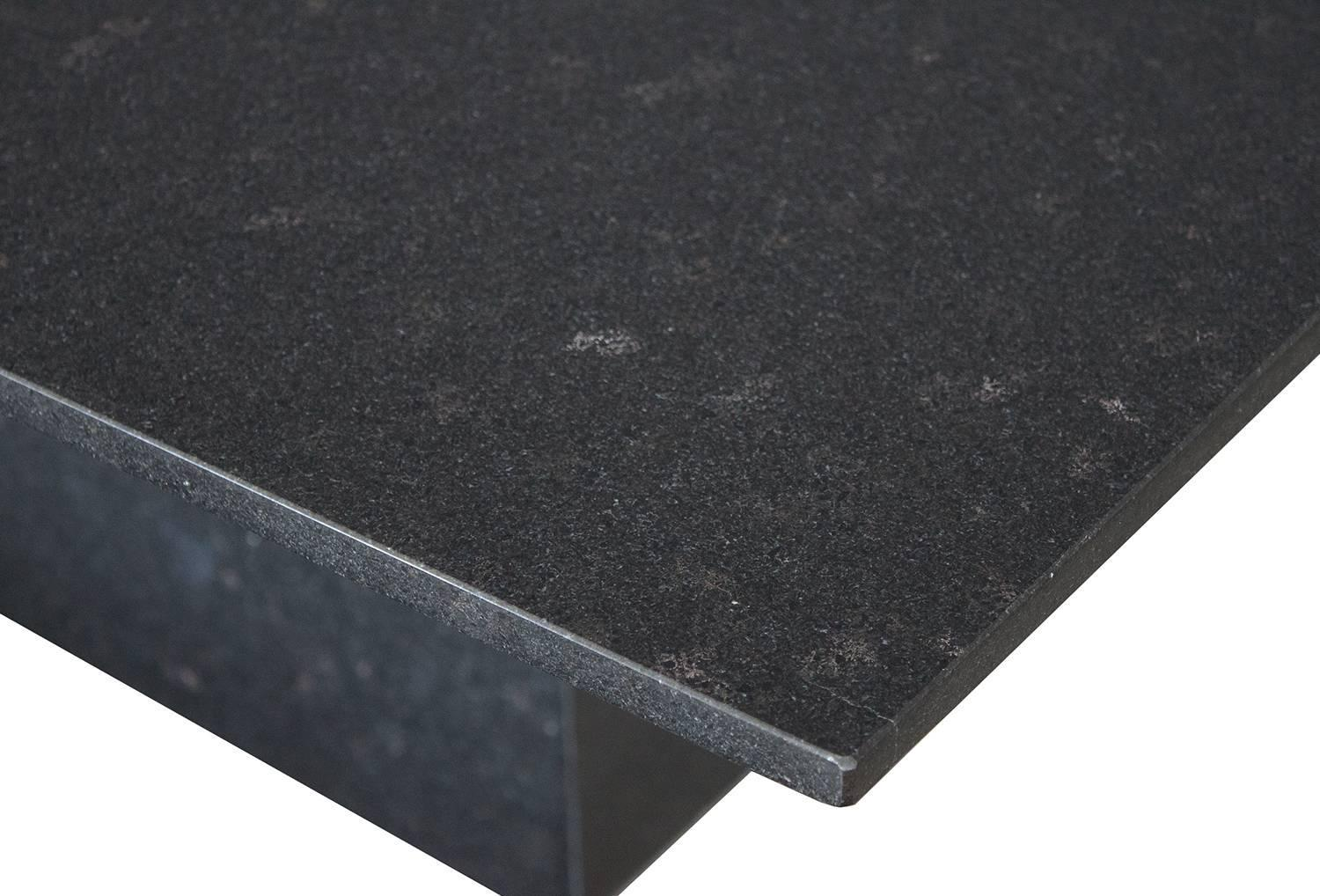 minimalist italian black granite pedestal dining table at 1stdibs