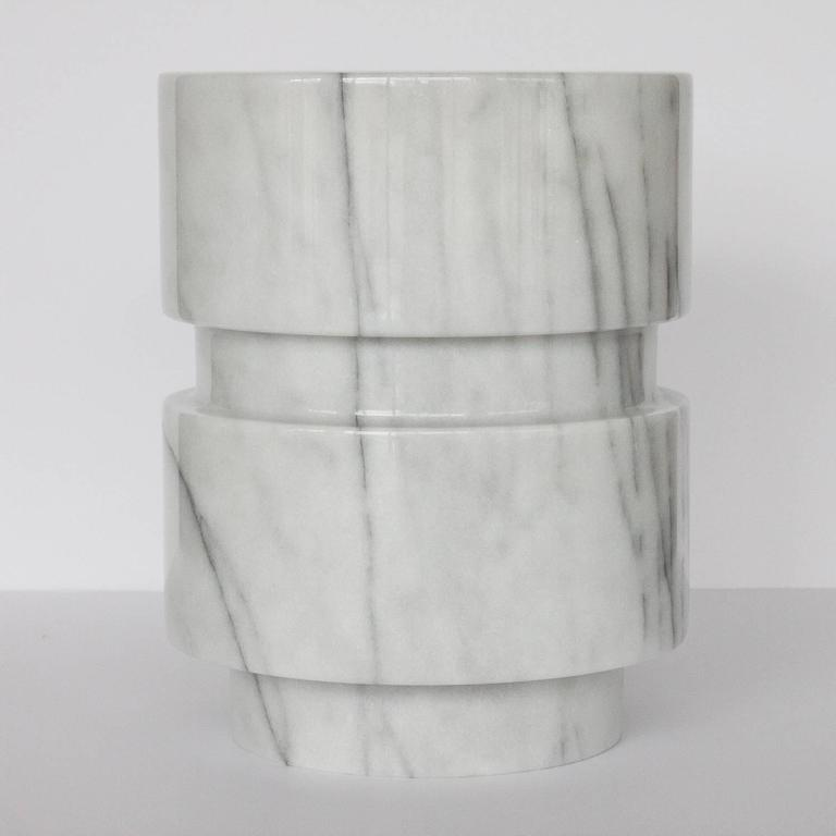 Angelo Mangiarotti Style Solid Marble Table Lamp 3