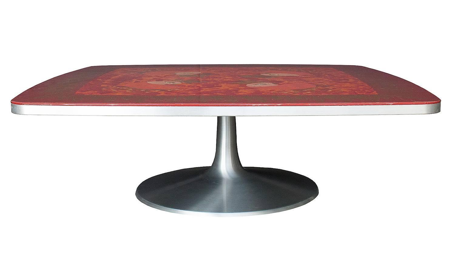 Pedestal Coffee Table By Bjorn Wiinblad And Mygge For Poul Cadovius At 1stdibs
