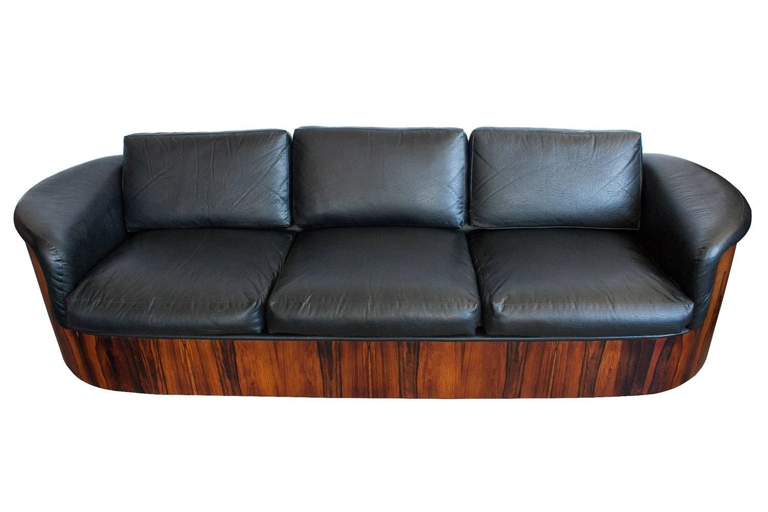 Rare Rosewood Case Sofa By Plycraft For Sale At 1stdibs