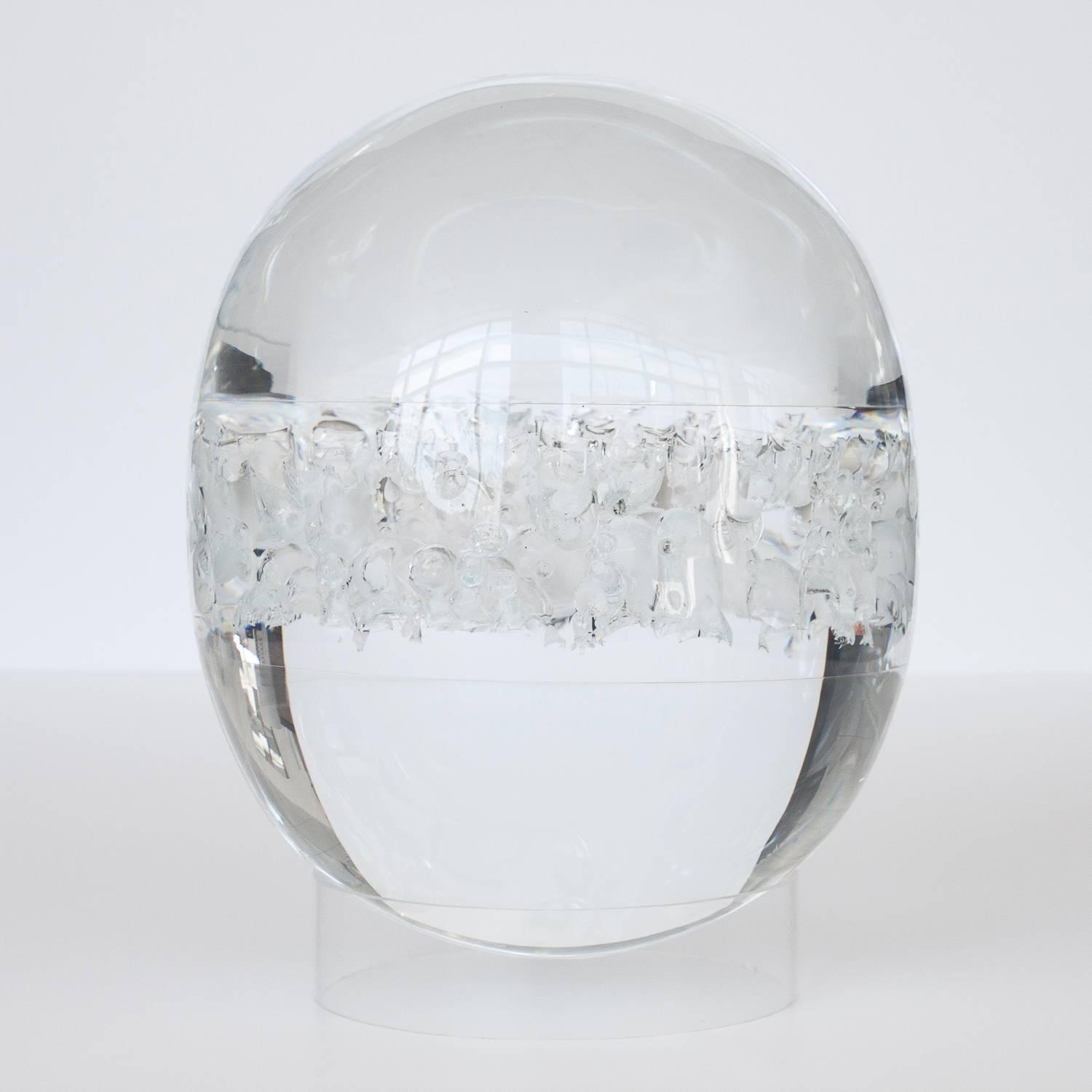 Optical Clear Lucite Bubble Sculpture At 1stdibs