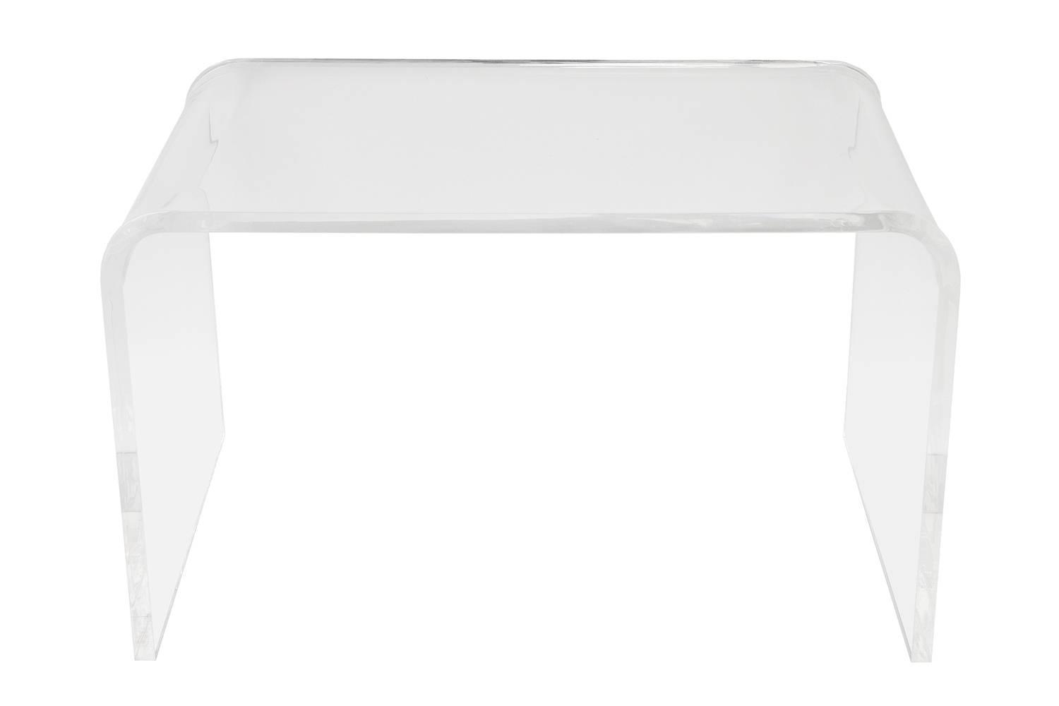 Small Lucite Waterfall Coffee Table Or Side Table At 1stdibs