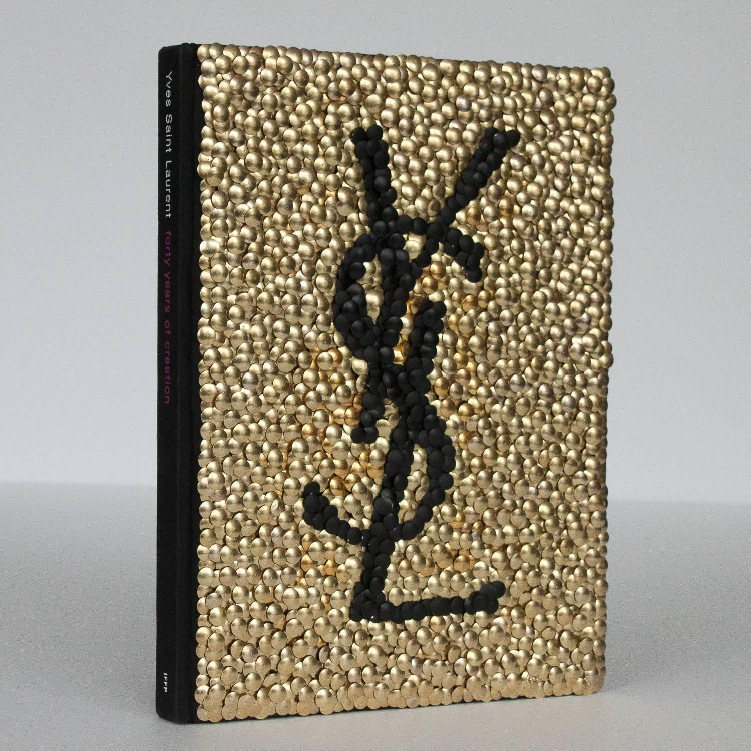 Brass Adorned Yves Saint Laurent Fashion Book By Brian