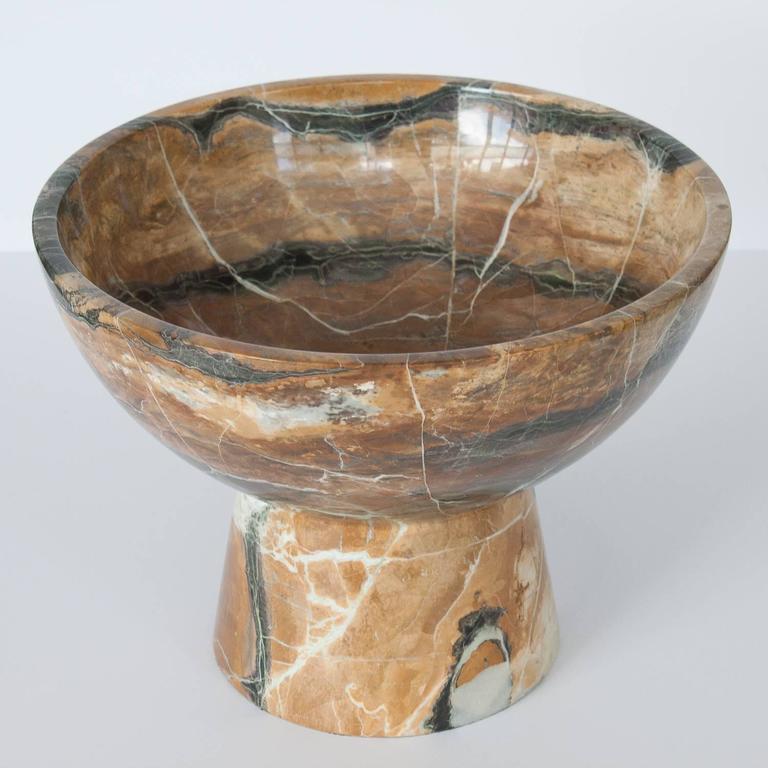 Monumental Marble Stone Pedestal Bowl At 1stdibs