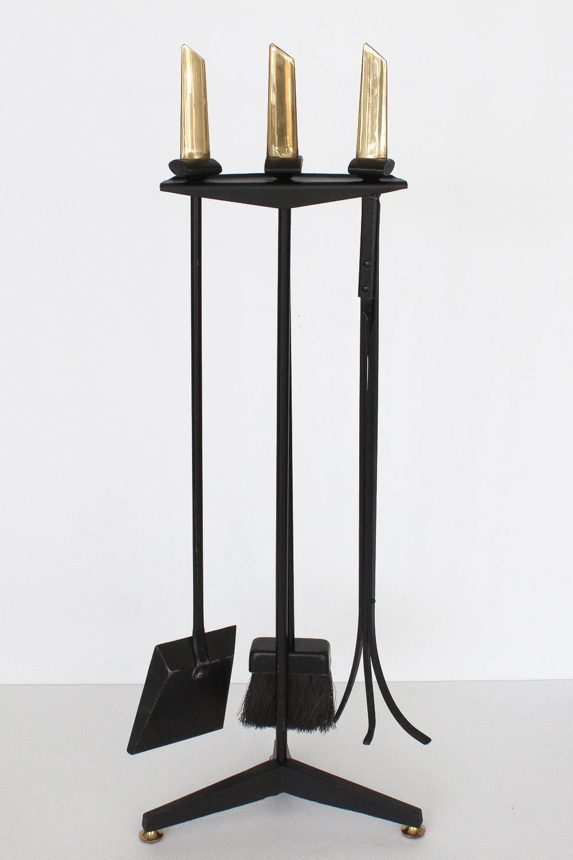 modernist fireplace tool set by donald deskey for bennett