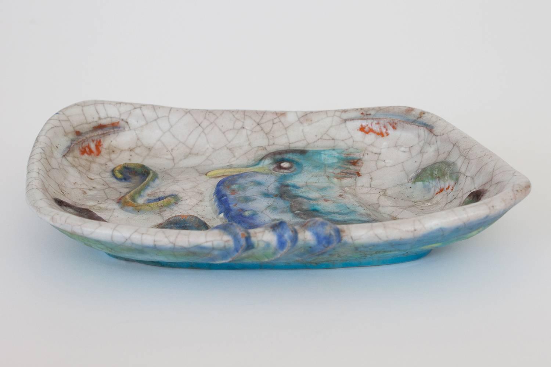 Marcello Fantoni Salt Glaze Ceramic Studio Dish At 1stdibs
