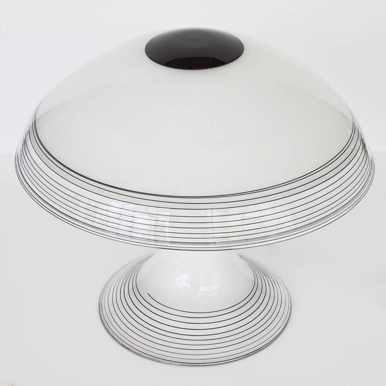 Italian black and white murano swirl glass table lamp at 1stdibs mid century modern italian black and white murano swirl glass table lamp for sale aloadofball Gallery