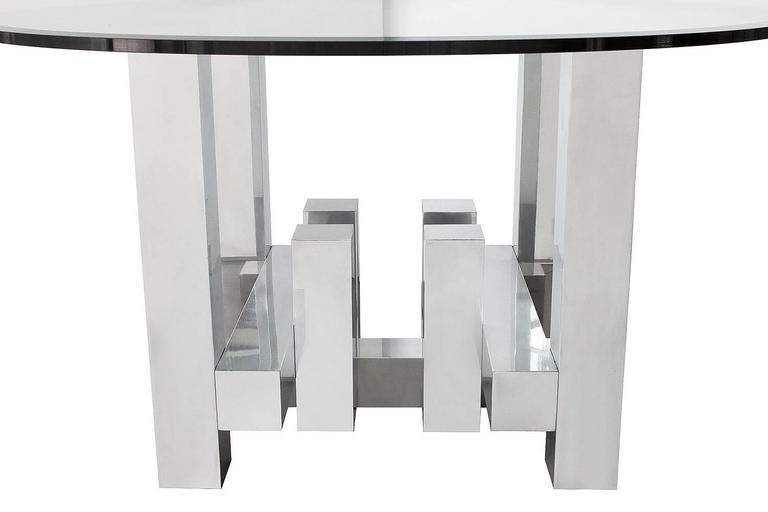 Paul Mayen Aluminium Geometric Cityscape Dining Table For Sale At - Aluminum dining table