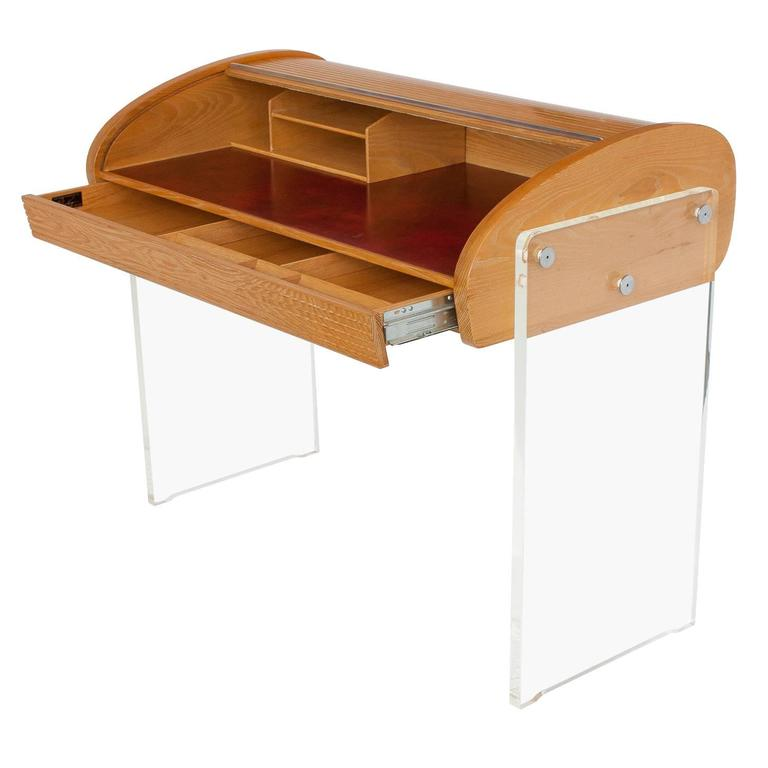 Vladimir Kagan roll-top writing desk, model P 902. 