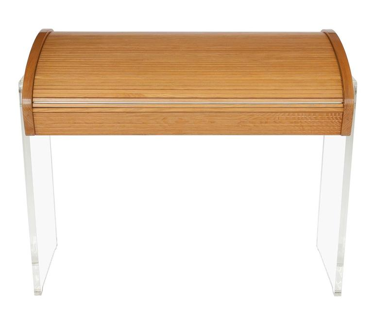 Mid-Century Modern Vladimir Kagan Roll Top Writing Desk