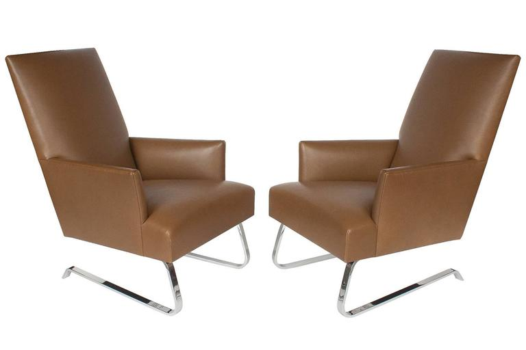 Pleasing Pair Of Donghia Odeon Lounge Chairs For Sale At 1Stdibs Evergreenethics Interior Chair Design Evergreenethicsorg
