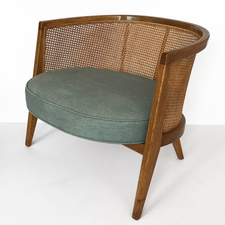 Harvey Probber Cane Curved Back Lounge Chair For Sale at 1stdibs