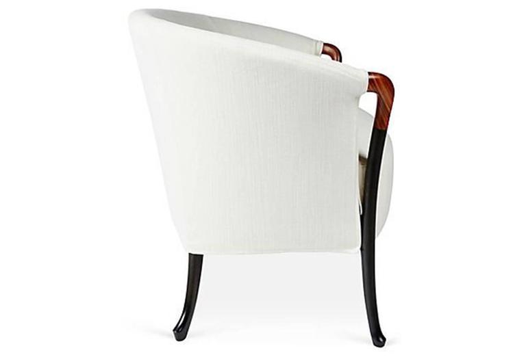 Giorgetti Progetti loveseat sofa in fabric. Two-seat sofa in beech wood.