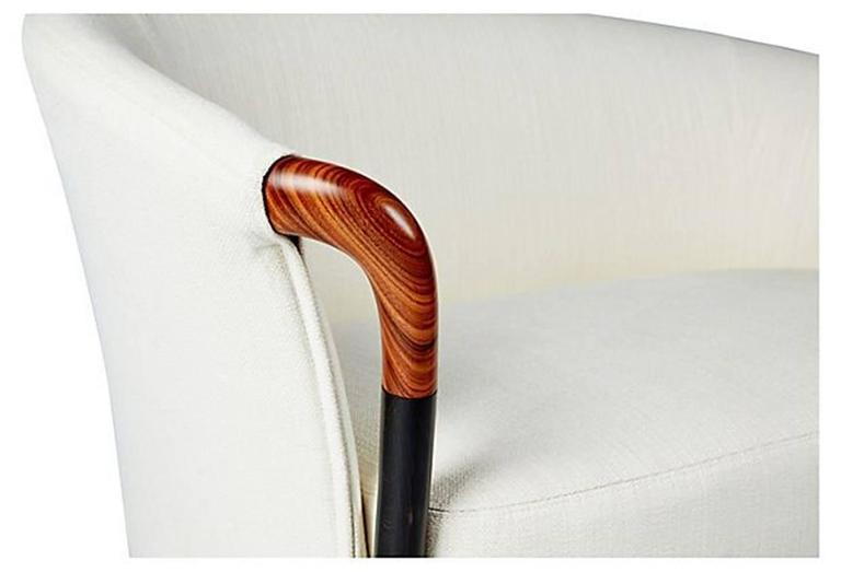 Modern Giorgetti Progetti Loveseat Sofa in Fabric For Sale