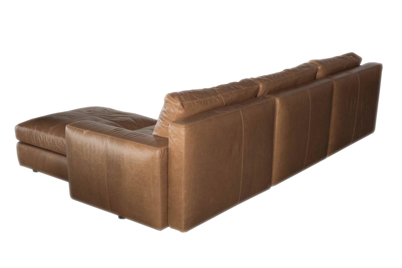 poltrona frau massimosistema leather sofa at 1stdibs. Black Bedroom Furniture Sets. Home Design Ideas