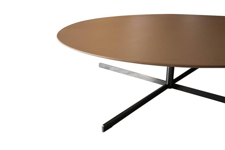 Poltrona Frau Bob Coffee Table Italian Leather Top 3