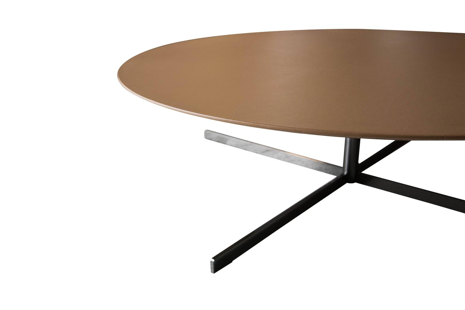 poltrona frau bob coffee table italian leather top for sale at 1stdibs