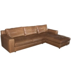 Poltrona Frau Massimosistema Leather Sofa