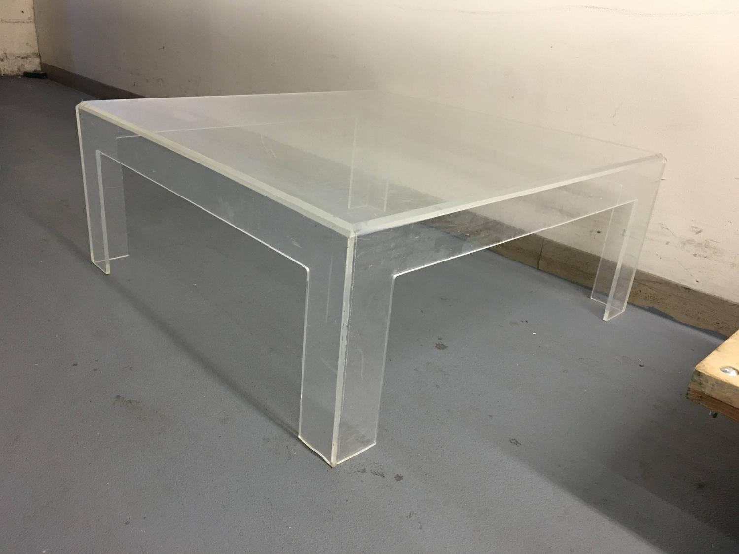 Modern lucite coffee table for sale at 1stdibs for Acrylic coffee tables for sale