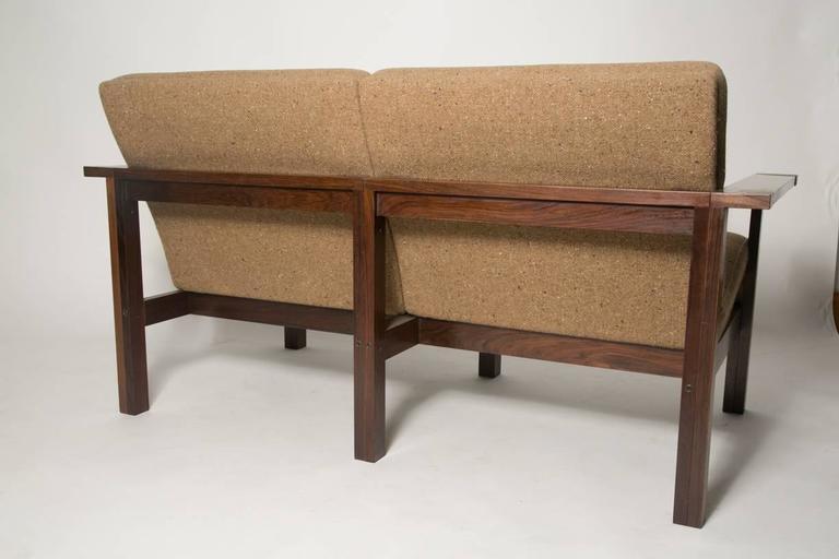 Scandinavian Modern Moduline Rosewood Sofa Love Seat For Sale