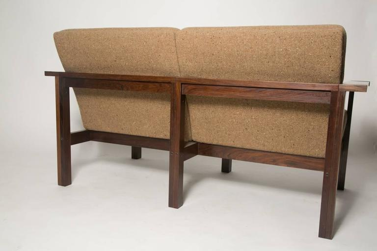 Moduline Rosewood Sofa Love Seat For Sale 1