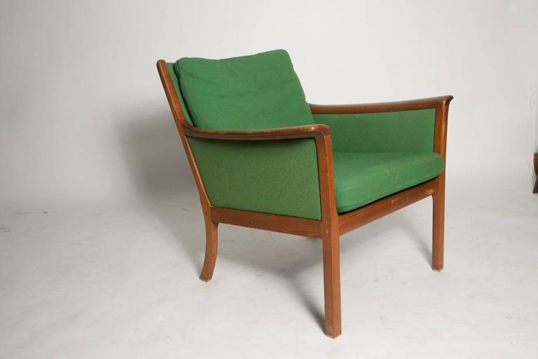 Scandinavian Modern Ole Wanscher Japan Lounge Chair in Rosewood For Sale