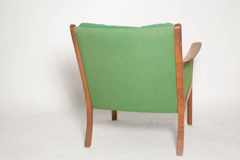 Mid-20th Century Ole Wanscher Japan Lounge Chair in Rosewood For Sale