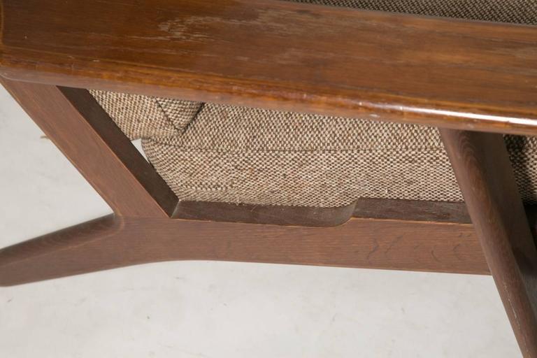 Wool Hans Wegner GE290 Lounge Chair for GETAMA For Sale