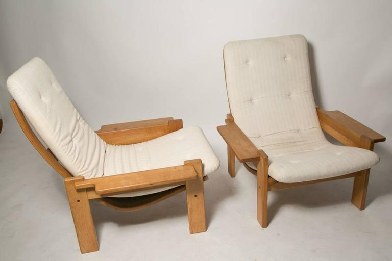 Extremely Rare Pair of Yngve Ekstrom for Swedes Møbler Super Lounge Chairs In Good Condition For Sale In Brooklyn, NY