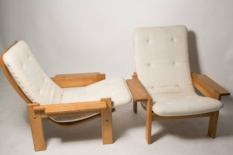 Mid-20th Century Extremely Rare Pair of Yngve Ekstrom for Swedes Møbler Super Lounge Chairs For Sale