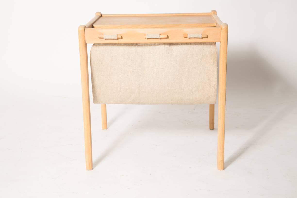 Wonderful image of Beechwood Danish Magazine Rack Side Table by Furbo For Sale at 1stdibs with #A86623 color and 1224x816 pixels