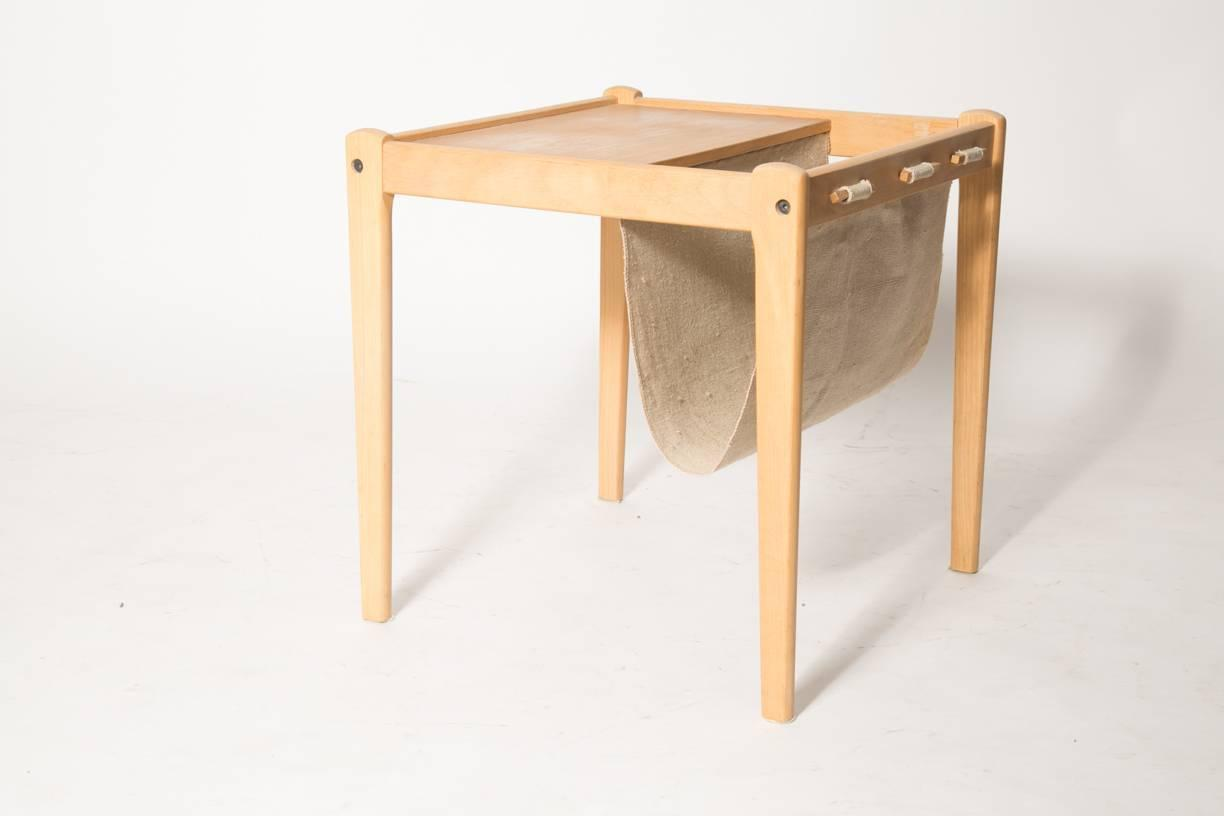 Wonderful image of Beechwood Danish Magazine Rack Side Table by Furbo For Sale at 1stdibs with #AD691E color and 1224x816 pixels