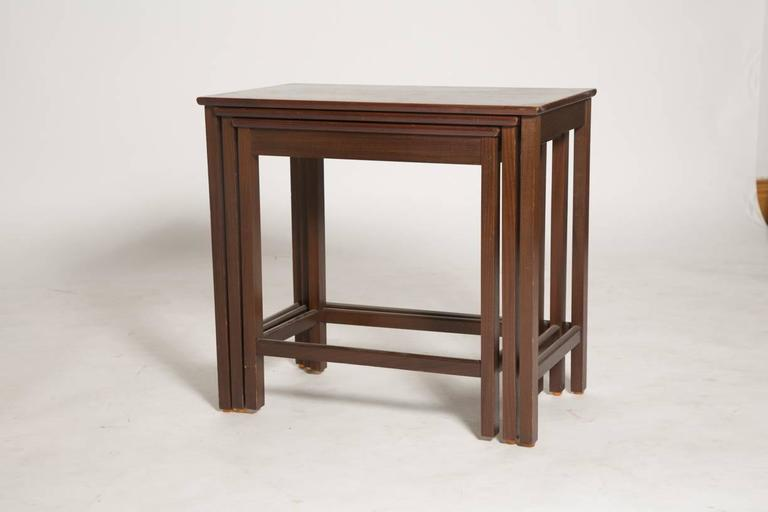 Mid-20th Century Danish Rosewood Nesting Tables For Sale