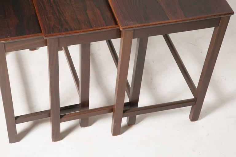 Scandinavian Modern Danish Rosewood Nesting Tables For Sale