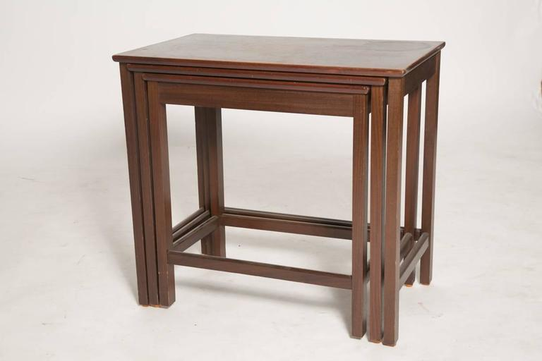 Danish Rosewood Nesting Tables In Good Condition For Sale In Brooklyn, NY