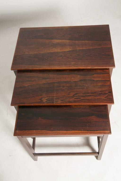 Danish Rosewood Nesting Tables For Sale 1