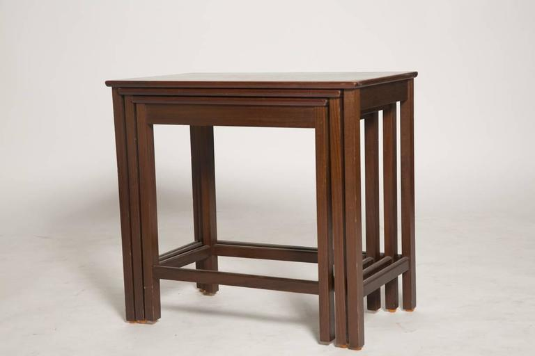 Danish Rosewood Nesting Tables For Sale 2