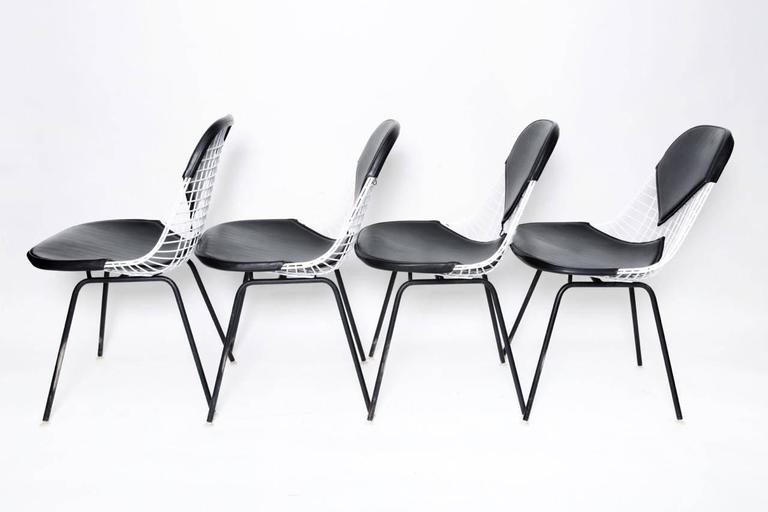 Herman miller eames dining table and four chairs for sale