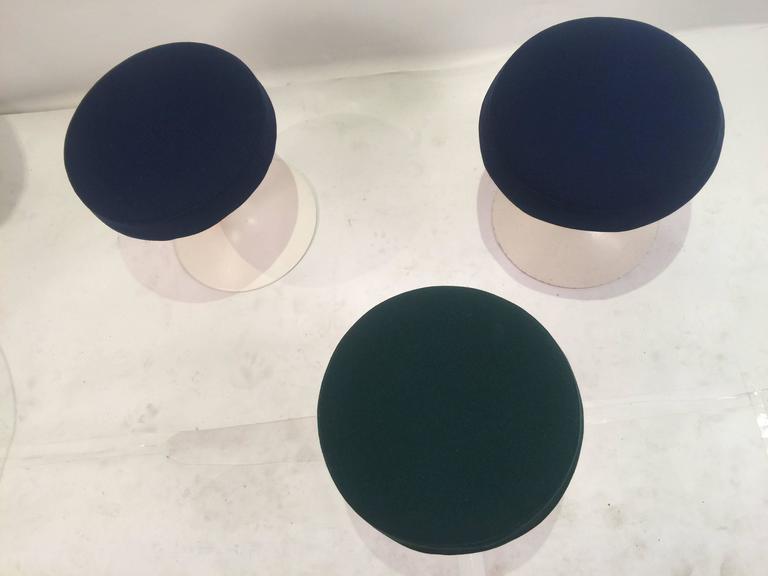 Eero Saarinen Tulip Stools for Knoll in Fabric 7