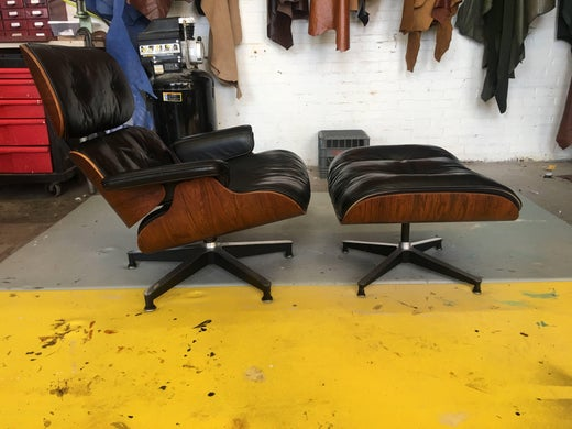 Amazing Rare 1St Year 1956 Eames Lounge With Spinning Ottoman Ncnpc Chair Design For Home Ncnpcorg