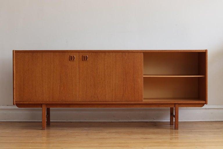 20th Century Mid-Century Modern Teak Danish Credenza For Sale