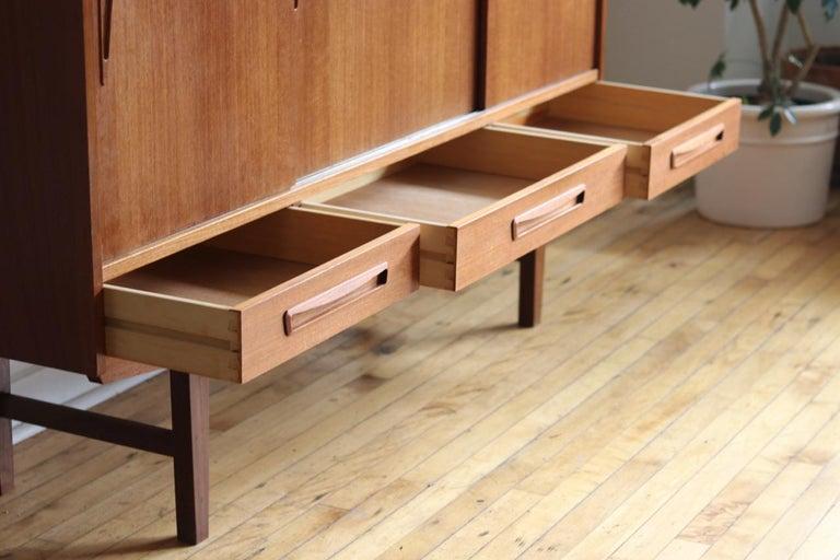 Mid-Century Modern Scandinavian Teak Highboard For Sale 5